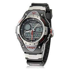 Multi-fonction analogique-numérique cadran de bande de silicone montre-bracelet pour hommes (couleurs assorties)