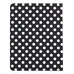 360 graders roterende rund Dots Pattern Auto Sleep & Wake-Up PU lærveske med stativ for iPad 2/3/4 (valgfrie farger)