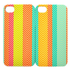 Triangle cas de la ligne de couleur de la barre de Couple arrière pour iPhone 4/4S (2 PCS)