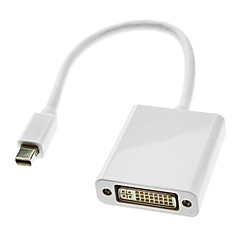 0.3M 1FT Thunderbolt Male to DVI 24+5 Female Cable White for MacBook Air/MacBook Pro/iMac/Mac mini