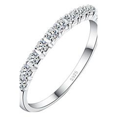 z&X® (1 adet) moda kadın şeffaf yapay elmas yüzük
