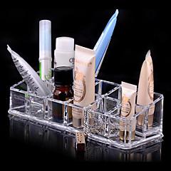 Organizador para Maquiagem Caixa de Cosméticos / Organizador para Maquiagem Plástico / Acrílico Cor Única 17.0 x 6.0 x 4.0 Transparentes