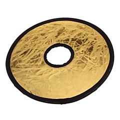Pliable de taille moyenne flash Conseil Reflector - Silver + or (30cm de diamètre)
