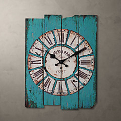 "H15 ""Country Style Light Blue reloj de pared"