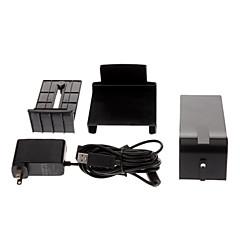 Negro Kinect Mount USB Adaptador de corriente AC + Sensor Soporte para Microsoft Xbox 360