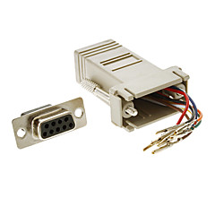 DB9F Female to RJ-45 Female Modular Adaptor