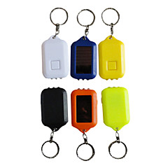Rechargeable Solar ABS 3-LED Keychains(Random Color)