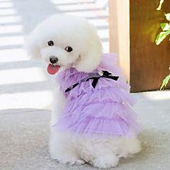 Elegante vestido de la princesa de múltiples capas para Mascotas Perros (varios colores, tamaños)