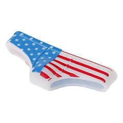 Funny Designet American Flag Mønster Triangle Pants Shape Hjem Knap Case for iPhone 4/4S/5/5S m.fl.