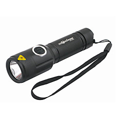 LED Flashlights / Handheld Flashlights LED 5 Mode 1000 Lumens Rechargeable Cree XM-L T6 18650Camping/Hiking/Caving / Everyday Use /