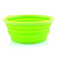 silício dobrável bowl itinerante para animais de estimação cães (cores sortidas)