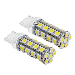 T20 6W 30x5060SMD 540LM 5500-6500K Cool White Light LED žarulja za auto (12V, 2kom)