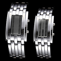 Couple's Watch Blue LED Digital Water Resistant