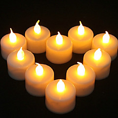 1PCS LED Vela amarilla en forma de decoración de la fiesta de la boda de suministro de luz (4.5x3.9x3.9cm)