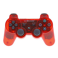 Trådlös Bluetooth GiG Controller för Sony PS3 (Transparent Red)