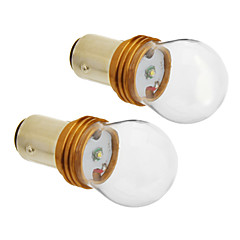 1157/BA15D 6W Cree 380LM 5500-6500K Cool White Light LED Bulb for Car (12V-24V,2pcs)