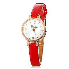 Petit Dial PU bande Quartz PU bande de montre-bracelet des femmes (couleurs assorties)