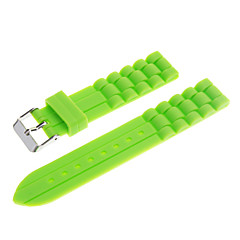 18mm Unisex Gummi Silikon Watch Band (blandade färger)