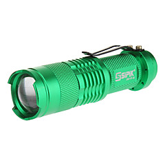 SIPIK SK68 monomodo Cree XP-E Q5 LED Linterna con clip (240LM, 1xAA, verde)