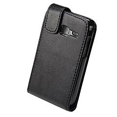 elegante de cuero de la PU de cuerpo completo la cubierta del caso del tirón para Samsung Galaxy Y S6102 dous-negro