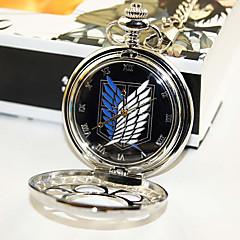 Ρολόι/Ρολόι χεριού Εμπνευσμένη από Επίθεση στον Τιτάνα Eren Jager Anime Αξεσουάρ για Στολές Ηρώων Ρολόι/Ρολόι χεριού Μαύρο / Ασημί Κράμα