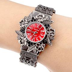 reloj de las mujeres de aleación de línea flor análogo de cuarzo banda de pulsera (colores surtidos)