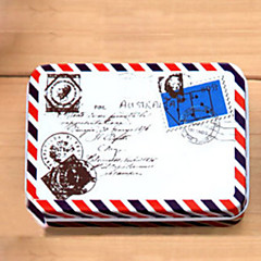 Rectangle Envelope Pattern Tin Box