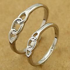Silver Wedding Ring Koppel (Random Maat, een paar)
