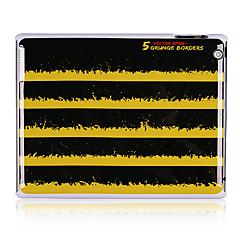 Musta ja keltainen raita kuvio muovi takakannen iPadille 2/3/4