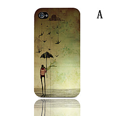 The Shining Series Pattern Hard Case with 3-Pack Screen Protectors for iPhone 4/4S
