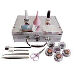 17PCS pestañas falsas de extensión Injerto Traje Kit de maquillaje dentro de Instrucción Enseñanza VCD