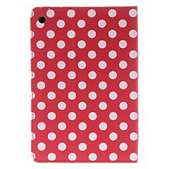 runda prickar mönster röd case för ipad mini 3, iPad Mini 2, iPad Mini