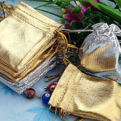 50stk Guld & Sølv 5x7cm Løbegang Organza Bag