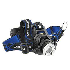 Hovedlygter LED 3 Tilstand 1000 Lumens Justerbart Fokus / Genopladelig / Taktisk / selvforsvar Cree XM-L T6 18650Camping/Vandring/Grotte