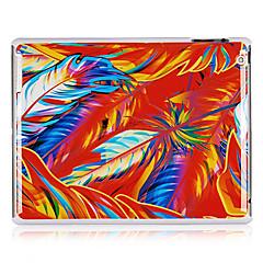 Värjäys Feathers kuvio muovi takakannen iPadille 2/3/4