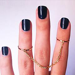 Anéis Meio Dedo ( Chapeado Dourado ) - Pesta / Diário / Casual