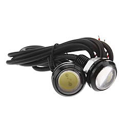3W 400LM 6000K 1xCOB Cool White LED Light Car Eye Águia da cauda da lâmpada (12V, 2pcs)