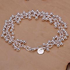Sweet 19cm Women's Silver Copper Chain & Link Bracelet(Silver)(1 Pc)