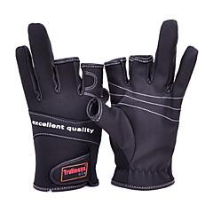 Three Mitten Canvas Waterproof Black Fishing Glove