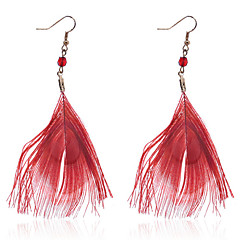 Europe Style Brief Peacock Feather Earrings