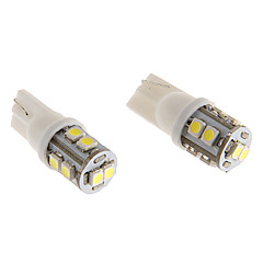 T10 2W 10x3020SMD 110LM 5500-6500K Cool White Light LED Bulb for Car (12V)
