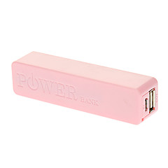Popular 2600mAh Mobile External Power Charger for iphone 6/6 plus/5/5S/Samsung S4/S5/Note2 (Pink)
