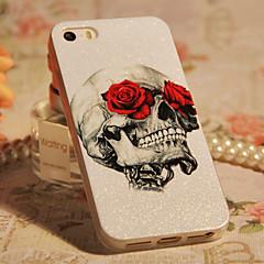 Rose & Skull Design ABS Back Case for iPhone 5/5S