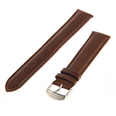 För män 20mm Äkta läder Watch Band (Brown)