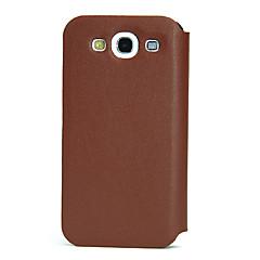 2013 Geniune Bolsa em couro para Samsung I9300 S3 (Brown)