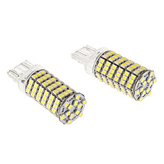 T20 7443 8W 120x3020SMD 660LM 5500-6500K Cool White Light LED lampa för bil (12V)