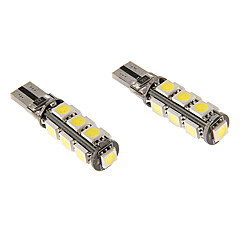 T10 6W 13x5060SMD 470LM 5500-6500K Cool White Light LED lampa för bil (12V)