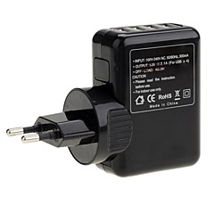 Universal Travel 4-USB port AC Power Charger Adapter