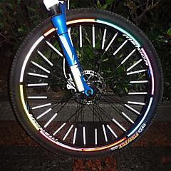 12 piezas de la bici de montaña del rayo reflexivo raya