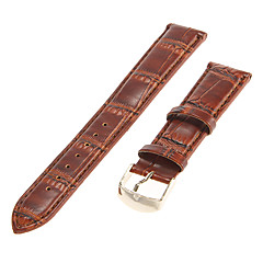 Unisex 18mm Bamboo Grain Genuine leather Watch Band (Assorted Colors)